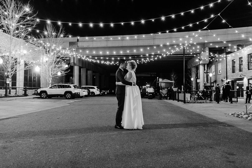 Couple under the lights