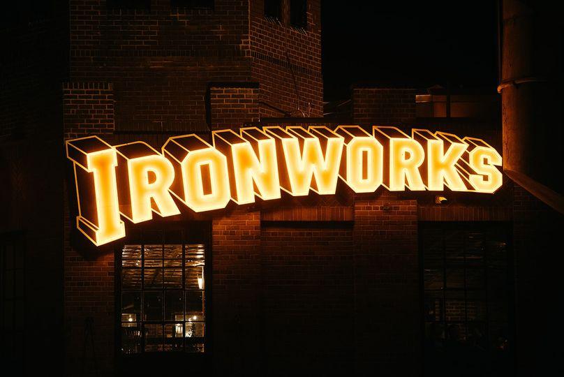 Ironworks sign