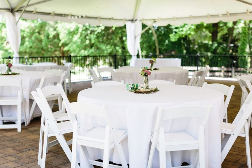 Reception under the tent