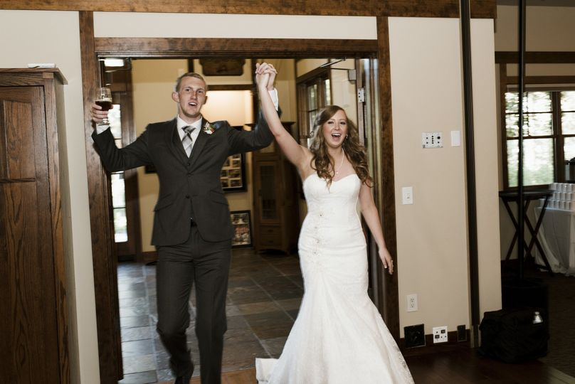 Happy couple enter the room
