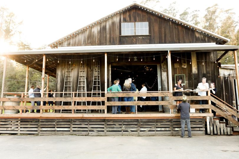 Front of barn