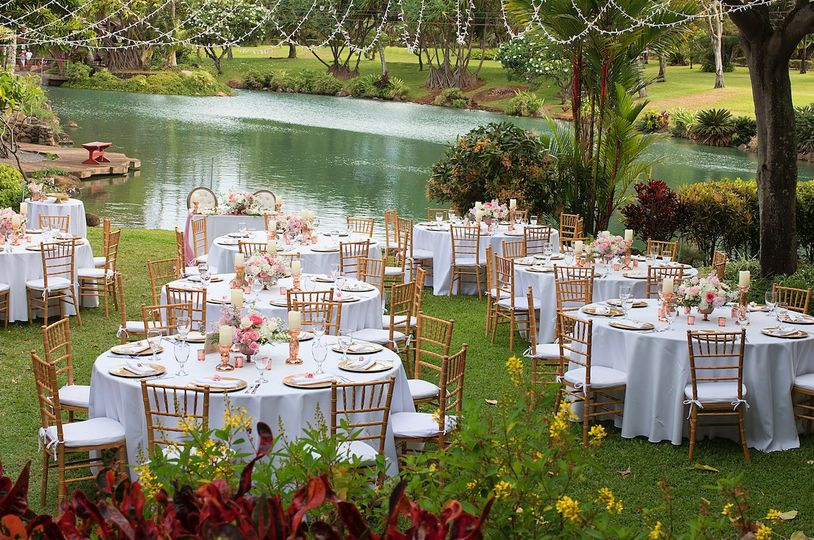 Tropical Gazebo Reception