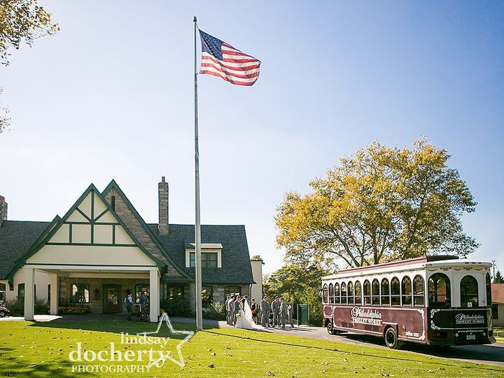 Tmx Wedding Party And Trolley In Front Of Llanerch Country Club 51 602161 1565288508 Havertown, Pennsylvania wedding venue