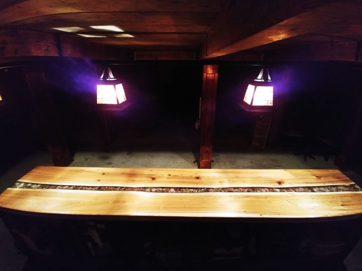 Custom bar with agate detailing