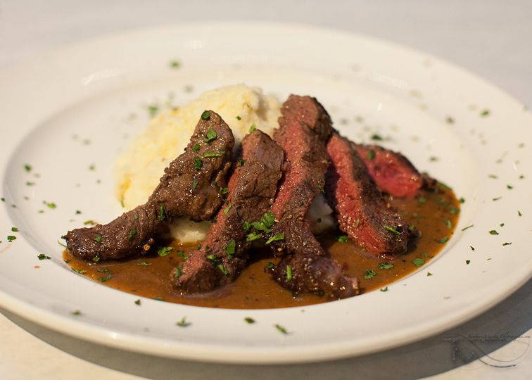 Beef Tenderloin with a Marsala sauce and creamed potatoes