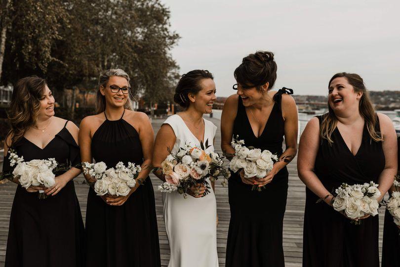 Modern district winery wedding