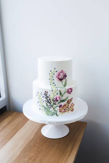 Piped buttercream floral