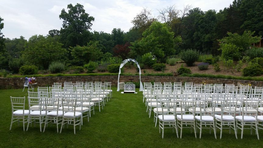 Ceremony in the gardens