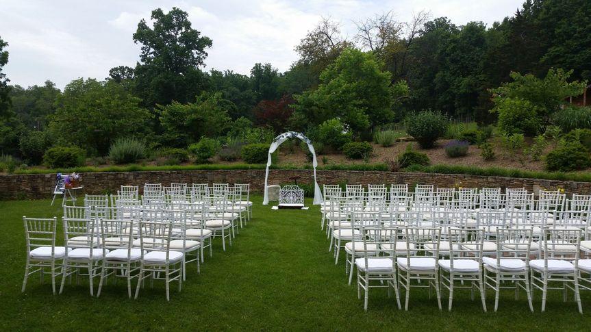 Ceremony in the gardens
