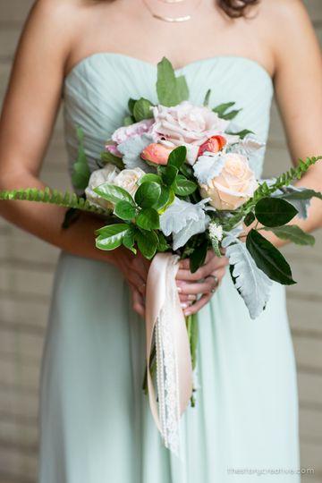 Garden inspired hand-tied bouquets