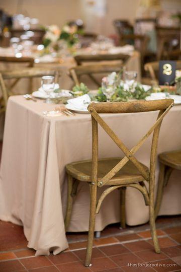garden inspired table design