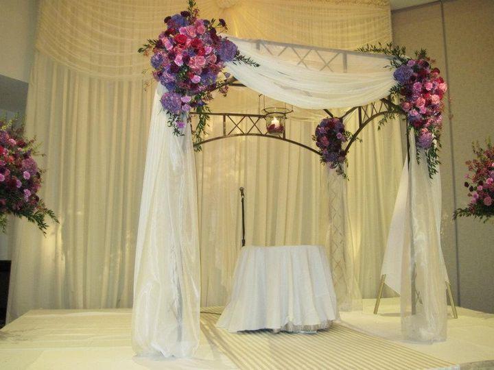 Tmx 1468522472544 Chuppah Before Ceremony Ardmore wedding florist