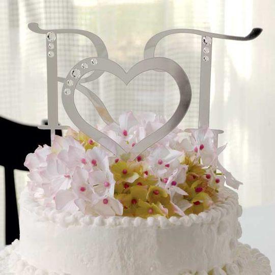 rhinestone crystal cake top letters