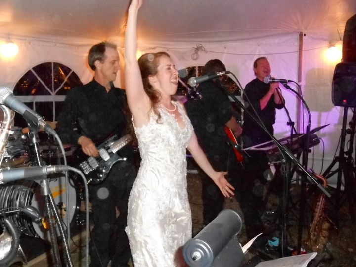 Bride's jamming with the band