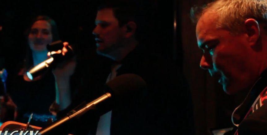 Singing onstage
