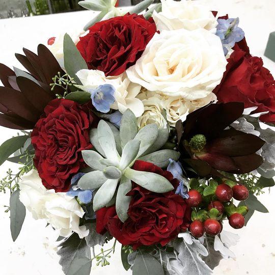Burgundy Winter Bridal Bouquet