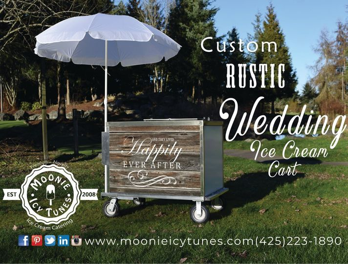 Rustic Wedding Ice Cream Cart