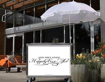 Custom Branded Wedding carts