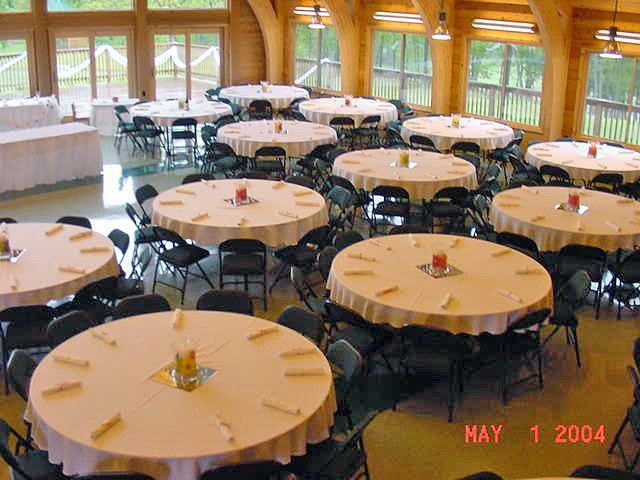 A look at the inside of the Lodge banquet facility at Quail Ridge Park.