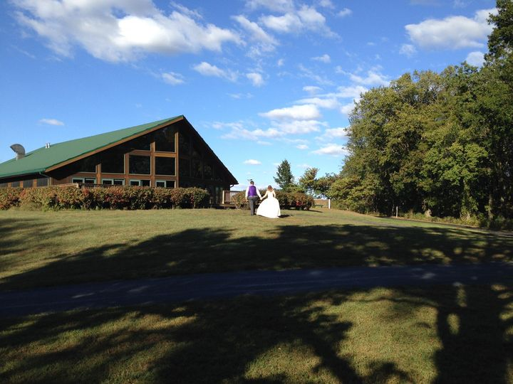 The bride and groom head back to the Quail Ridge Lodge from the gazebo to kick-off the reception...