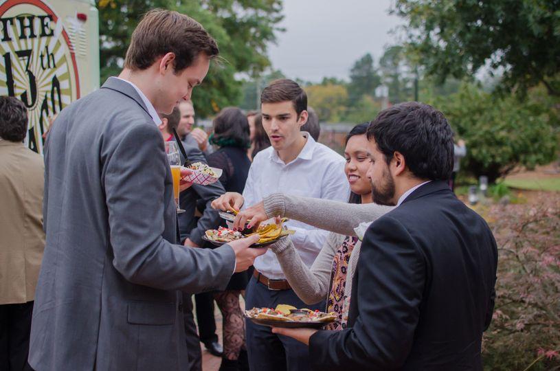 Guests enjoying their food