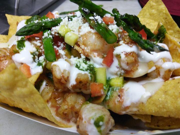 fish tales shrimp nachos