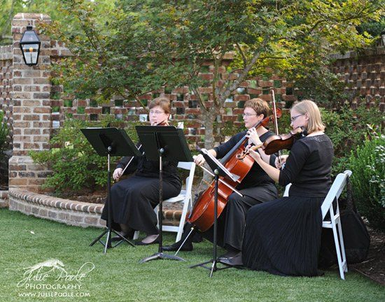 Our string trio of violin, viola and cello play a variety of classical, broadway and some...