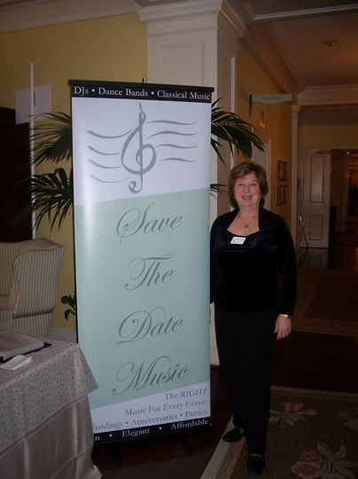 Our information table at the Carolina Inn with Mary Greiner