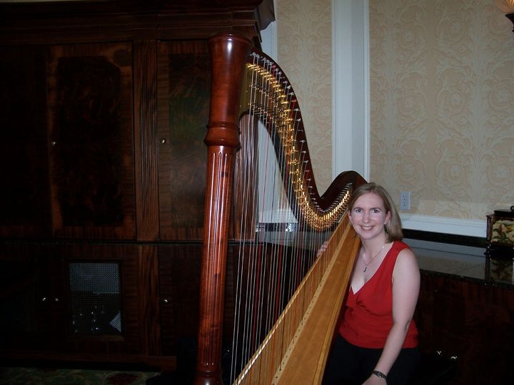 Our harpist at the Washington Duke Inn Rotunda Room plays a variety of wedding and reception music.