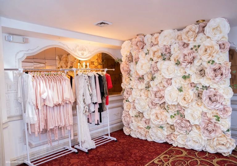 Blush, Cream & Tan Flower Wall