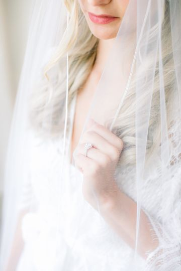 Bride and her veil