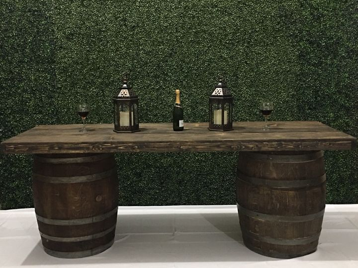 Wine Barrel Bar 8 ft