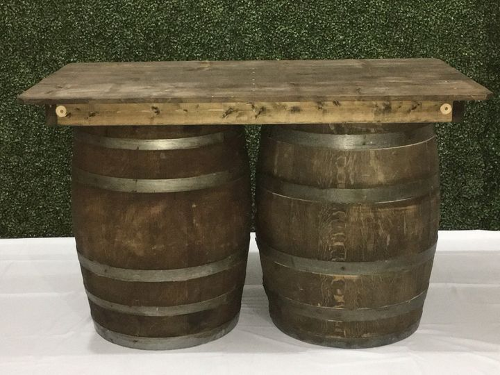 Barrel Table 6 ft