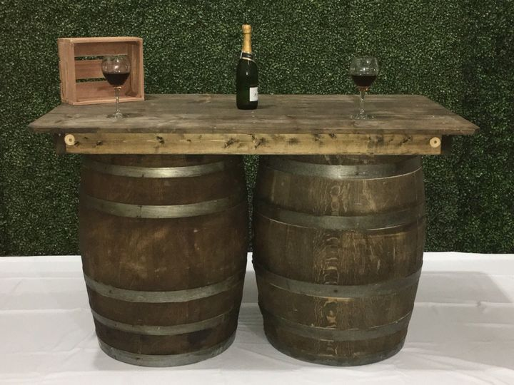 Wine Barrel Bar 6 ft