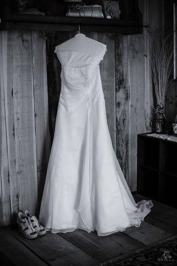 Sandy's wedding gown