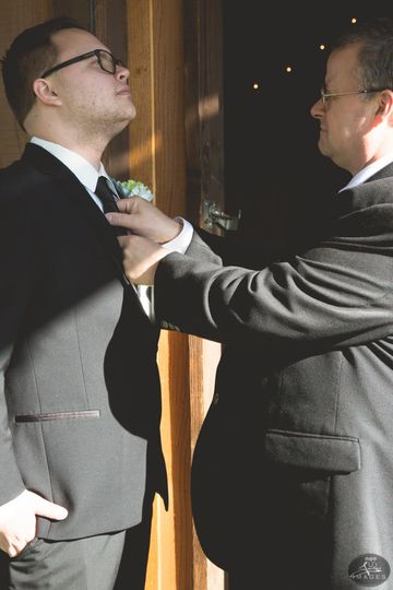 Groom and father