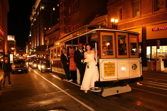 trolley car weddin