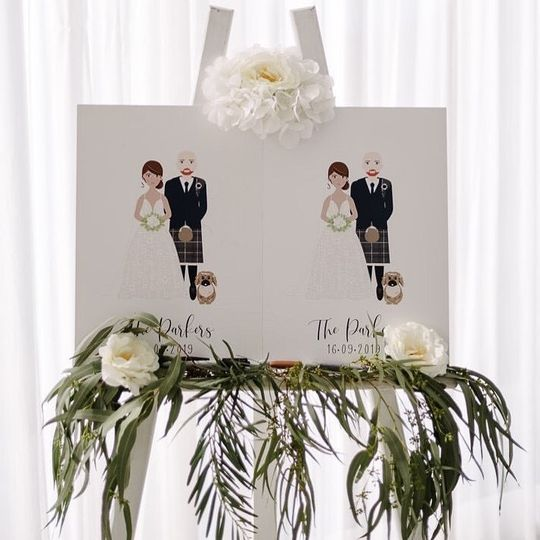 Customized guest book