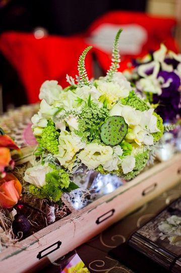 Flower arrangements | Designer, Erin McClellan Photography Courtesy of William McKee with The...