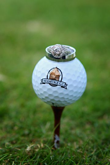 Ring on the golf ball