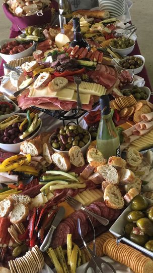 fine cuisine antipasto display