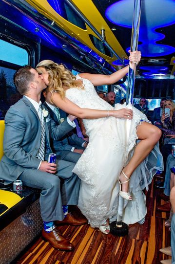 Fun on the party bus!
