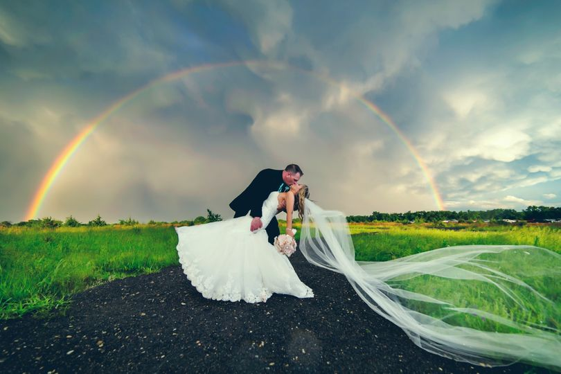 Double Rainbow wedding photo