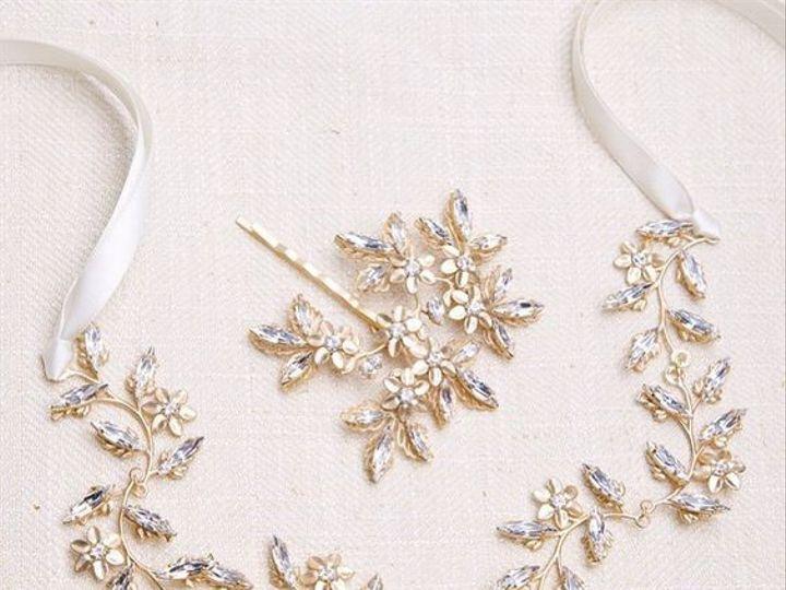 Tmx 1477764234939 Goldbridalhairribbon Charlotte, NC wedding jewelry