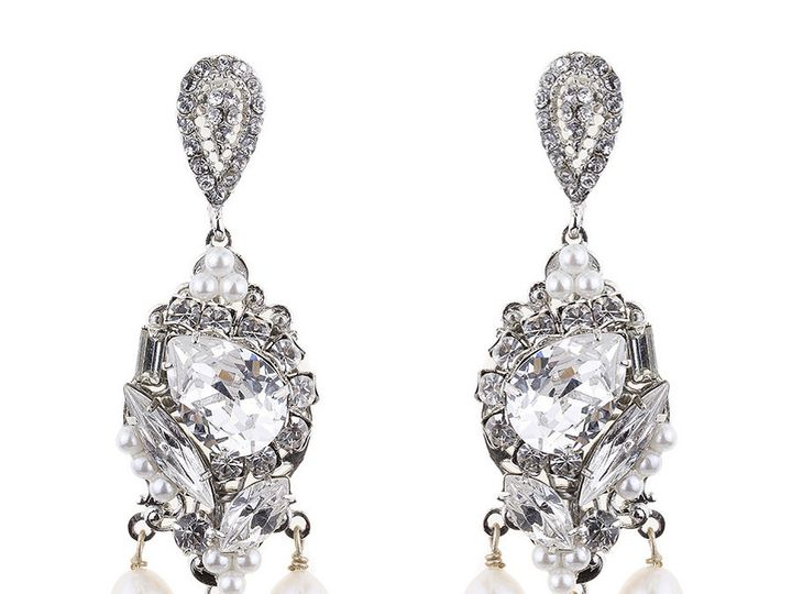 Tmx 1477769856704 Valentinaearringsweddingcrystalearrings3 Charlotte, NC wedding jewelry