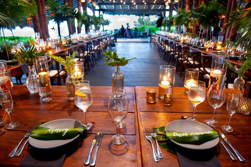 Tulum wedding reception