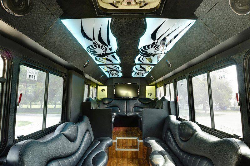 Limo-bus interior