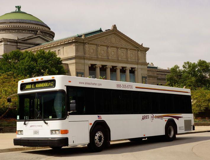 Modern trolley/transit bus