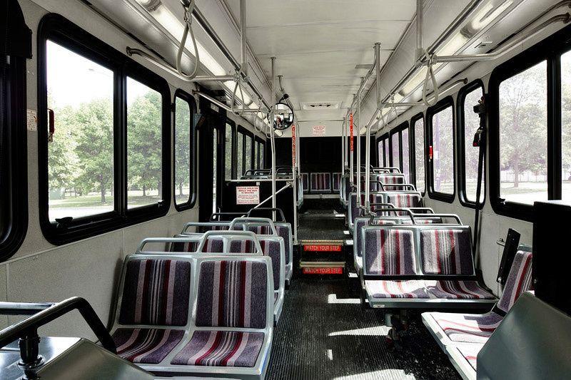 Transit bus interior