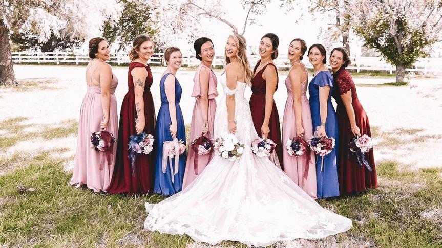 Kaylie and Bridesmaids